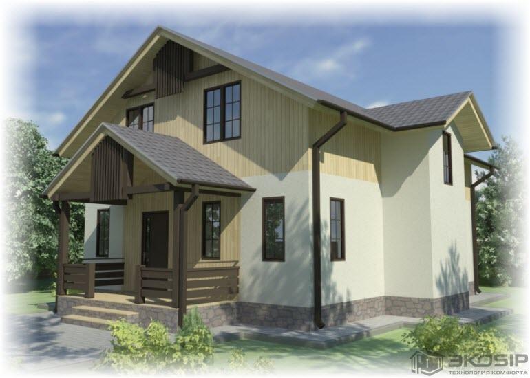 Проект большого дома из сип панелей
