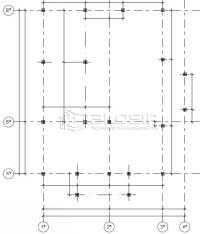 Сборка дома из СИП панелей - план свайного поля