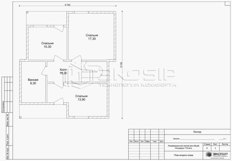 Эскизный проект дома из СИП панелей